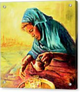 African Chai Tea Lady. Acrylic Print