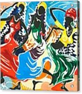 African Dancers No. 2 Acrylic Print