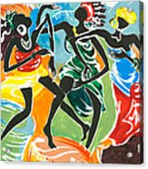 African Dancers No. 3 Acrylic Print