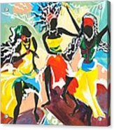 African Dancers No. 4 Acrylic Print
