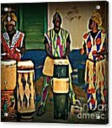 African Drummers Acrylic Print