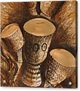 African Drums Acrylic Print