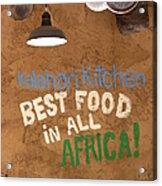 African Food Acrylic Print