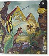 African Gold Acrylic Print