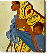 African Mother And Child Acrylic Print