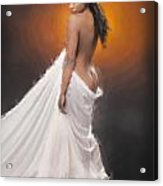 African Nude And White Cloth 1036.02 Acrylic Print