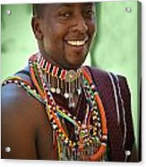 African Smile Acrylic Print