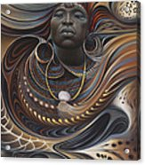 African Spirits I Acrylic Print by Ricardo Chavez-Mendez