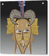 African Tribal Ceremonial Mask Acrylic Print