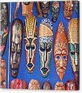African Tribal Masks In Sidi Bou Said Acrylic Print
