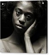 Chynna African American Nude Girl In Sexy Sensual Photograph And In Black And White Sepia 4784.01 Acrylic Print