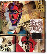 Afro Aesthetic B Acrylic Print by Everett Spruill