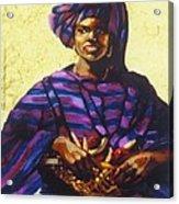 Afro Caribe Fruit Baskit Acrylic Print