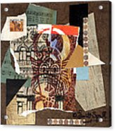 Afro Collage B Acrylic Print by Everett Spruill