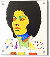 Afro Pam Grier Acrylic Print