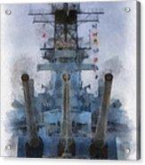 Aft Turret 3 Uss Iowa Battleship Photoart 01 Acrylic Print