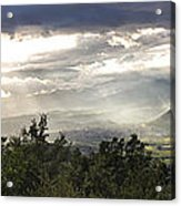 After A Pyrenean Storm Acrylic Print by Michael David Murphy