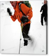 After An Afternoon Of Ice Climbing, Two Acrylic Print