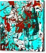 After Pollock Acrylic Print