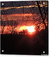 After The Snow Sunset Acrylic Print