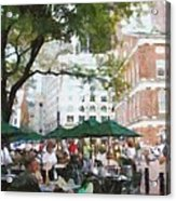 Afternoon At Faneuil Hall Acrylic Print by Jeff Kolker