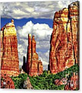 Afternoon Cathedral Rocks Saddle View Red Rock State Park Sedona Arizona Acrylic Print