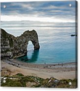 Afternoon Cloud Breaking Up At Durdle Door Acrylic Print