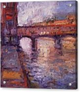 Afternoon On The Arno Acrylic Print