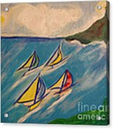 Afternoon Regatta By Jrr Acrylic Print by First Star Art