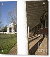 Afternoon Shadows Spread Across The Dorms Rooms Along The Lawn Acrylic Print