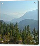 Afternoon Smoke At The Tantalus Mountains Acrylic Print