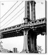 Afternoon Under The Manhattan Bridge - Brooklyn Bridge Park Acrylic Print