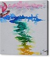 Against The Wind Acrylic Print