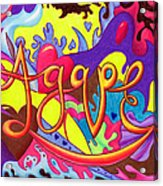 Agape Acrylic Print by Nancy Cupp