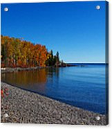 Agate Beach On Lake Superior Acrylic Print by Steve Anderson