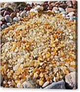 Agate Rock Garden Art Prints Coastal Beach Acrylic Print by Baslee Troutman