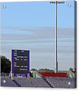 Ageas Bowl Score Board And Floodlights Southampton Acrylic Print