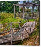 Aged Bridge And Gazebo Acrylic Print
