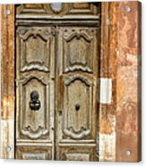 Aged Door In Provence Acrylic Print