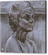 Aged Woman Acrylic Print
