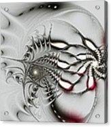 Aggressive Grey Acrylic Print by Anastasiya Malakhova