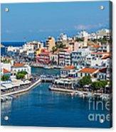 Agios Nikolaos Town Acrylic Print