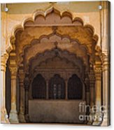 Agra Fort Arches Acrylic Print