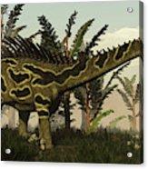Agustinia Dinosaur Walking Amongst Acrylic Print