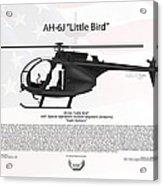 Ah-6j Little Bird Night Stalkers Acrylic Print