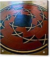 Ahwahnee Hotel Floor Medallion Acrylic Print