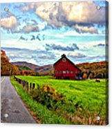 Ah...west Virginia Painted Acrylic Print