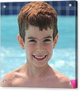 Aidan At The Pool Acrylic Print