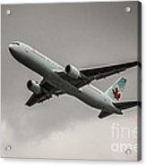 Air Canada Boeing 767 Monochrome Acrylic Print