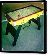 Air Hockey Table Acrylic Print by Les Cunliffe